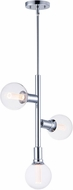 Maxim 11343PC-BUL-G40-CL Molecule Contemporary Polished Chrome LED Mini Chandelier Lamp