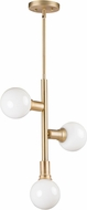 Maxim 11343SBR-BUL-G40-CL Molecule Contemporary Satin Brass LED Mini Ceiling Chandelier