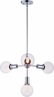 Maxim 11344PC-BUL-G40-CL Molecule Contemporary Polished Chrome LED Mini Chandelier Light