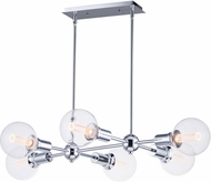 Maxim 11346PC-BUL-G40-CL Molecule Contemporary Polished Chrome LED Kitchen Island Lighting