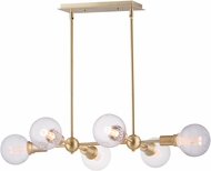 Maxim 11346SBR-BUL-G40-CL Molecule Contemporary Satin Brass LED Island Light Fixture