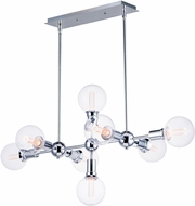 Maxim 11348PC-BUL-G40-CL Molecule Contemporary Polished Chrome LED Island Lighting