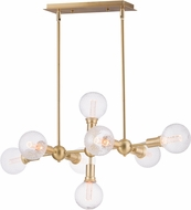 Maxim 11348SBR-BUL-G40-CL Molecule Contemporary Satin Brass LED Kitchen Island Light