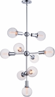 Maxim 11349PC-BUL-G40-CL Molecule Contemporary Polished Chrome LED Chandelier Light
