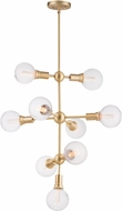 Maxim 11349SBR-BUL-G40-CL Molecule Contemporary Satin Brass LED Hanging Chandelier