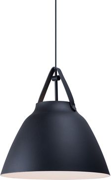 Maxim 11358TNBK Nordic Modern Tan Leather / Black Drop Lighting Fixture