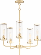 Maxim 11475CRSBR Crosby Contemporary Satin Brass Mini Hanging Chandelier