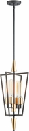 Maxim 11654BKSBR Wings Contemporary Black and Satin Brass Foyer Lighting