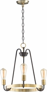 Maxim 11733OIAB Haven Modern Oil Rubbed Bronze / Antique Brass Mini Chandelier Lamp