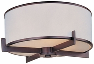 Maxim 12050WTOI Nexus Oil-Rubbed Bronze Contemporary 3-lamp Flush Mount Lighting