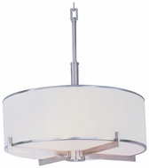 Maxim 12053WTSN Nexus Silver Nickel Contemporary Drum Pendant Lighting