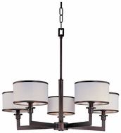 Maxim 12055WTOI Nexus Contemporary 5 Light Chandelier with Shades in Oil-Rubbed Bronze