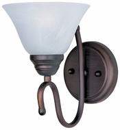 Maxim 12066MROI Newport Oil-Rubbed Bronze Wall Sconce with Marble Glass