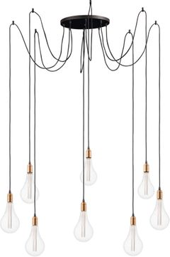 Maxim 12128BKAB-BUL-A52 Early Electric Black and Antique Brass Multi Pendant Hanging Light