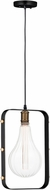 Maxim 12130BKAB Early Electric Modern Black / Antique Brass Mini Pendant Hanging Light