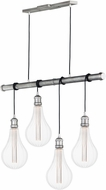 Maxim 12135WZ-BUL-A52 Early Electric Weathered Zinc Multi Pendant Light