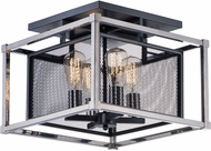 Maxim 12150BKPN Refine Contemporary Black / Polished Nickel Flush Mount Lighting