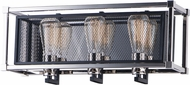Maxim 12153BKPN Refine Modern Black / Polished Nickel 3-Light Bathroom Light
