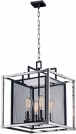 Maxim 12157BKPN Refine Modern Black / Polished Nickel Foyer Lighting