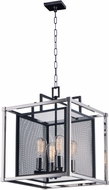 Maxim 12157BKPN Refine Modern Black and Polished Nickel Hanging Lamp