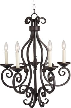 Maxim 12215OI Manor Traditional Oil Rubbed Bronze 26 Chandelier Light