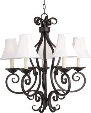 Maxim 12215OI-SHD123 Manor Traditional Oil Rubbed Bronze 26  Chandelier Light