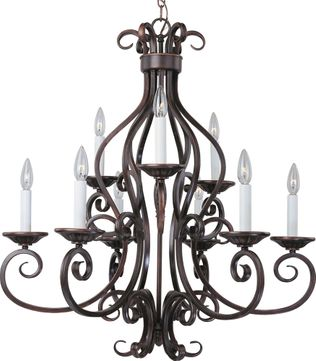Maxim 12216OI Manor Traditional Oil Rubbed Bronze 29  Chandelier Lighting