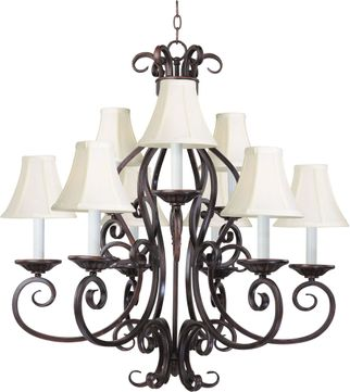 Maxim 12216OI-SHD123 Manor Traditional Oil Rubbed Bronze 29 Hanging Chandelier