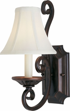 Maxim 12217OI-SHD123 Manor Traditional Oil Rubbed Bronze Wall Sconce Lighting