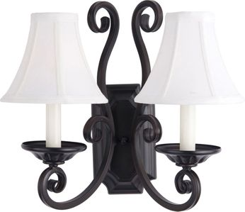 Maxim 12218OI-SHD123 Manor Traditional Oil Rubbed Bronze Wall Mounted Lamp