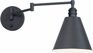 Maxim 12220BK Library Black Wall Swing Arm Lamp