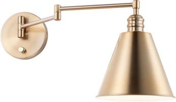 Maxim 12220HR Library Heritage Swing Arm Wall Lamp