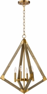 Maxim 12254WOAB Vector Contemporary Weathered Oak / Antique Brass 24  Foyer Lighting Fixture
