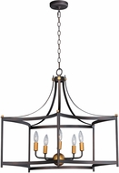 Maxim 13595OIAB Wellington Modern Oil Rubbed Bronze / Antique Brass Drop Lighting Fixture