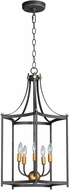 Maxim 13597OIAB Wellington Contemporary Oil Rubbed Bronze / Antique Brass Foyer Lighting