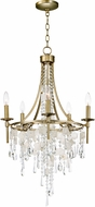 Maxim 14425CZGS Cebu Modern Capiz / Gold Silver Mini Lighting Chandelier