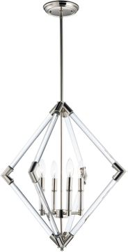 Maxim 16104CLPN Lucent Contemporary Polished Nickel Hanging Light Fixture