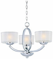 Maxim 19041FTPC Elle Polished Chrome Duo-Mount 3-lamp Chandelier/Semi Flush Ceiling Light