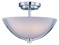 Maxim 20021SWPC Rocco 14 Inch Diameter Polished Chrome Semi Flush Lighting Fixture