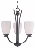 Maxim 20023SWOI Rocco 3 Lamp 19 Inch Diameter Small Chandelier Light Fixture