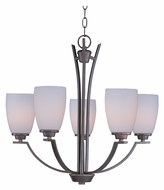 Maxim 20025SWOI Rocco Medium 5 Lamp Oil Rubbed Bronze Chandelier Lamp