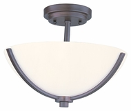 Maxim 20031SWOI Deven Transitional 14 Inch Diameter Semi Flush Ceiling Lighting
