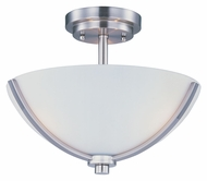 Maxim 20031SWSN Deven Semi Flush Satin Nickel 14 Inch Diameter Overhead Lighting Fixture