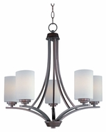 Maxim 20035SWOI Deven Medium 24 Inch Diameter Oil Rubbed Bronze Chandelier Lighting