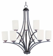 Maxim 20036SWOI Deven Large Satin Nickel 32 Inch Diameter Chandelier Light Fixture