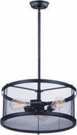 Maxim 20113BKNAB Palladium Black / Natural Aged Brass Drum Lighting Pendant