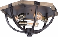 Maxim 20330WOBZ Lodge Modern Weathered Oak / Bronze Overhead Lighting