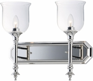 Maxim 20474CLPN Centennial Modern Polished Nickel 2-Light Bathroom Light Fixture