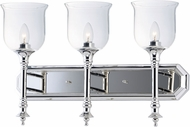 Maxim 20475CLPN Centennial Contemporary Polished Nickel 3-Light Bathroom Vanity Lighting