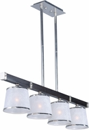 Maxim 20524WFWEPN Maritime Wenge and Polished Nickel Kitchen Island Light